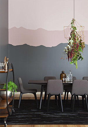 Choosing colour for your feature wall haymes paint for Dusty rose wall color